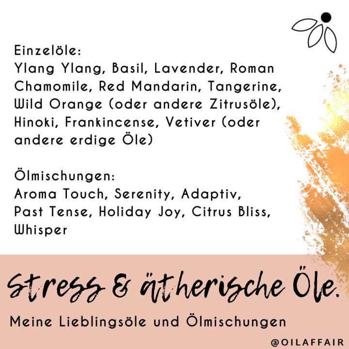 Stressmanagement und ätherischeÖle.